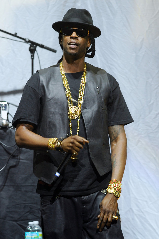 Photo - FILE - This July 24, 2012 file photo shows 2 Chainz performing during the Pink Friday World Tour 2012 at the James L. Knight Center in Miami, Fla. 2 Chainz, a former member of the rap duo Playaz Circle, is going solo with his debut album,