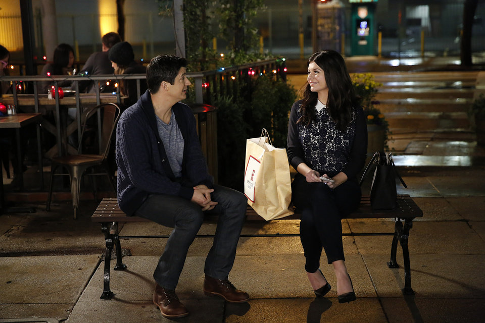 Photo - This image released by NBC shows Ken Marino, left, and Casey Wilson from the comedy,