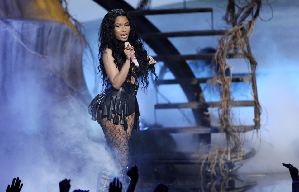 Photo - Nicki Minaj performs at the BET Awards at the Nokia Theatre on Sunday, June 29, 2014, in Los Angeles. (Photo by Chris Pizzello/Invision/AP)