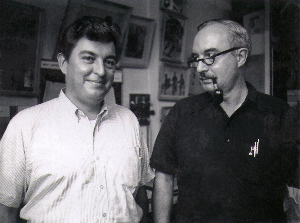 In this undated photo, Associated Press Saigon newsman and Bureau Chief Edwin Q. White, right, stands with Saigon photo chief Horst Faas during the Vietnam War. White, a Saigon bureau chief for The Associated Press during the U.S. buildup in the Vietnam War, died Thursday, Nov. 1, 2012 in Honolulu at age 90. (AP Photo)