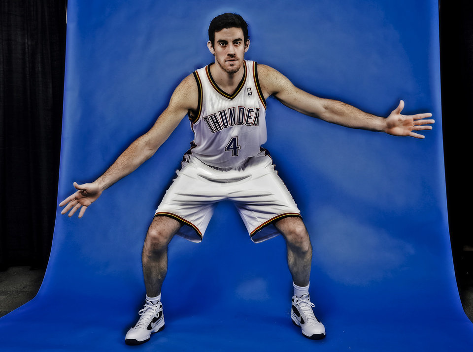 The Thunder\'s Nick Collison averaged 21.5 minutes last season. Photo by Chris Landsberger, The Oklahoman