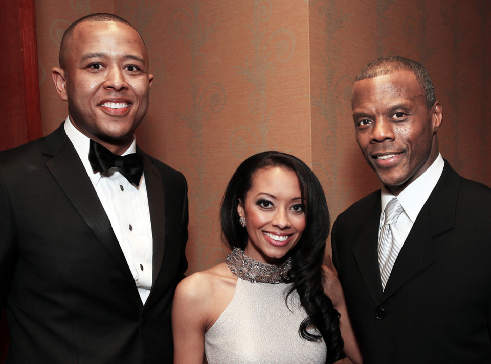 Photo - New Speaker of the Oklahoma House of Representatives T.W. Shannon and wife Devon, J.C. Watts Jr.