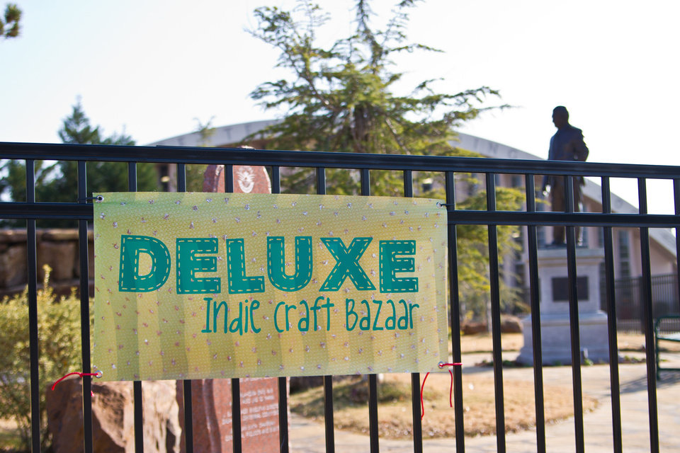 A sign directs visitors to the Deluxe Indie Craft Bazaar. This year's show is Saturday at State Fair Park. PHOTO PROVIDED