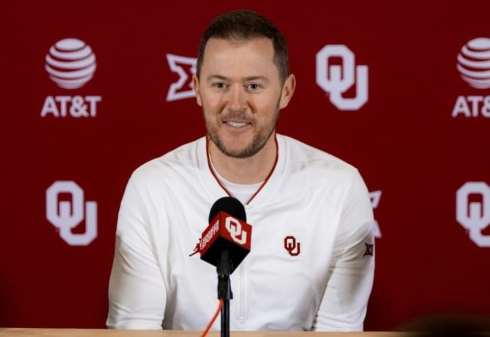 Photo -  Lincoln Riley is 36-6 with three trips to the College Football Playoff in three seasons as OU's head coach. [Chris Landsberger/The Oklahoman]