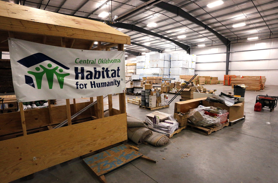 Photo -  Central Oklahoma Habitat for Humanity's warehouse contains building materials donated by local, state and national manufacturers and suppliers. [PHOTO BY STEVE SISNEY, THE OKLAHOMAN]