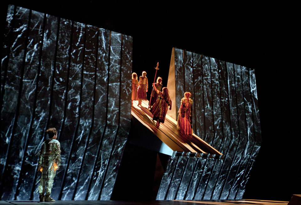 Photo -   This March 30, 2012 photo provided by the Metropolitan Opera shows a scene from Wagner's,