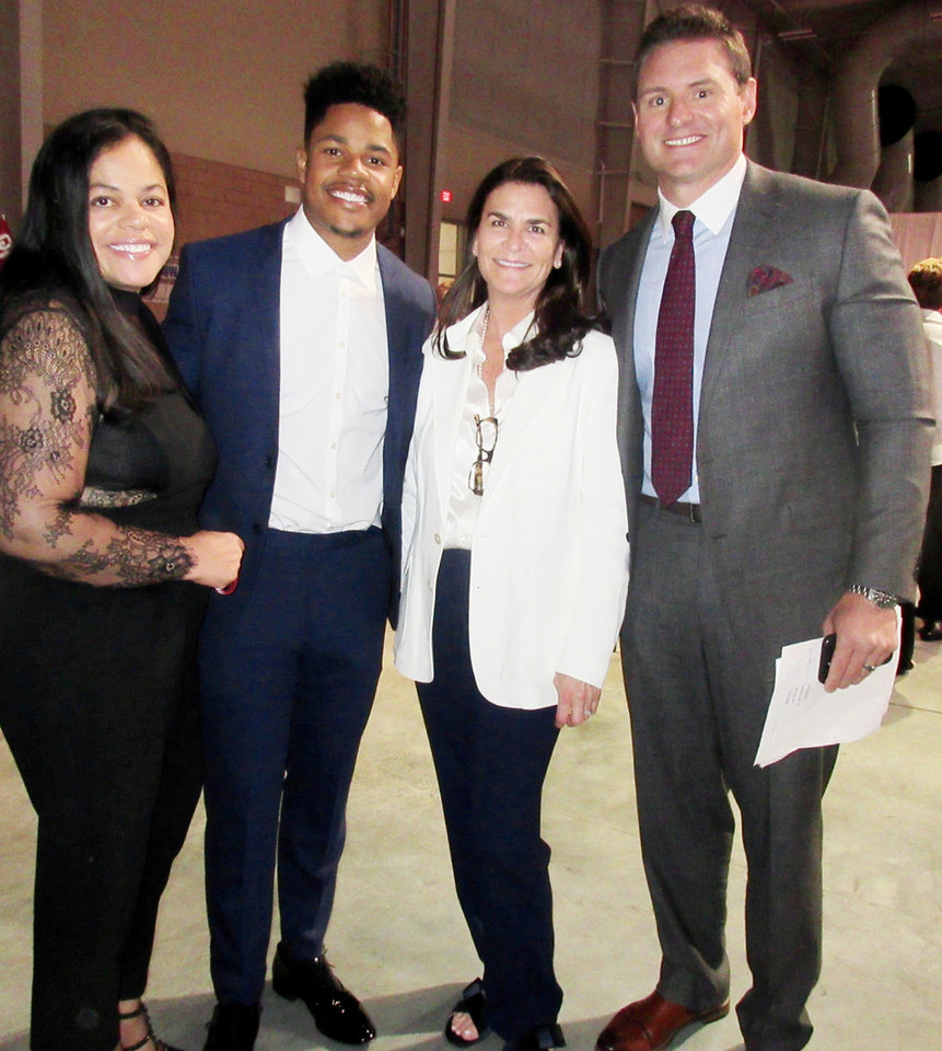 Photo - Cheri Shepard, Sterling Shepard, Jennifer Kiersch, Dusty Dvoracek. PHOTO BY HELEN FORD WALLACE, THE OKLAHOMAN