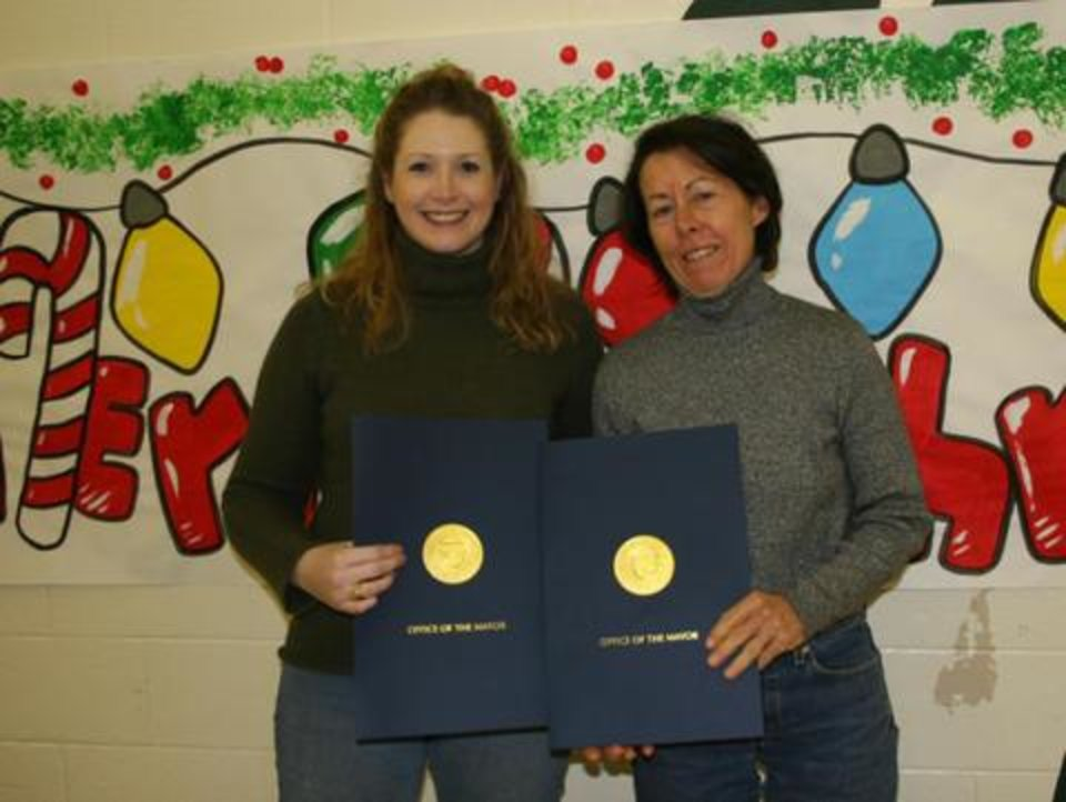 Samantha and Gayl, OKC AWD dedicated volunteers with their Volunteer of the Year awards!<br/><b>Community Photo By:</b> Danielle A.<br/><b>Submitted By:</b> danielle, Norman
