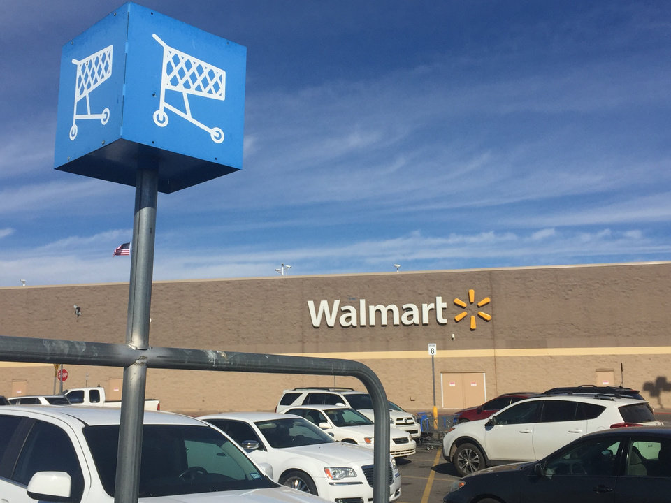 Photo - A Walmart store on W Reno Avenue is one of Oklahoma City's top locations for 911 calls, according to police records. Photo by Silas Allen