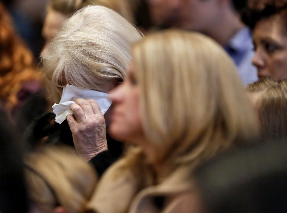 A supporter wipes a tear from her eye during the 18th Anniversary Remembrance Ceremony of the Oklahoma City bombing on Friday, April 19, 2013, in Oklahoma City, Okla.   Photo by Chris Landsberger, The Oklahoman