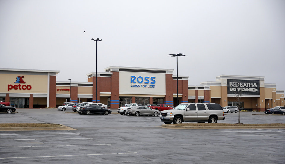 Photo - Stores at Bryant Square Shopping Center are pictured Edmond, Okla., Tuesday, March 17, 2020. [Sarah Phipps/The Oklahoman]