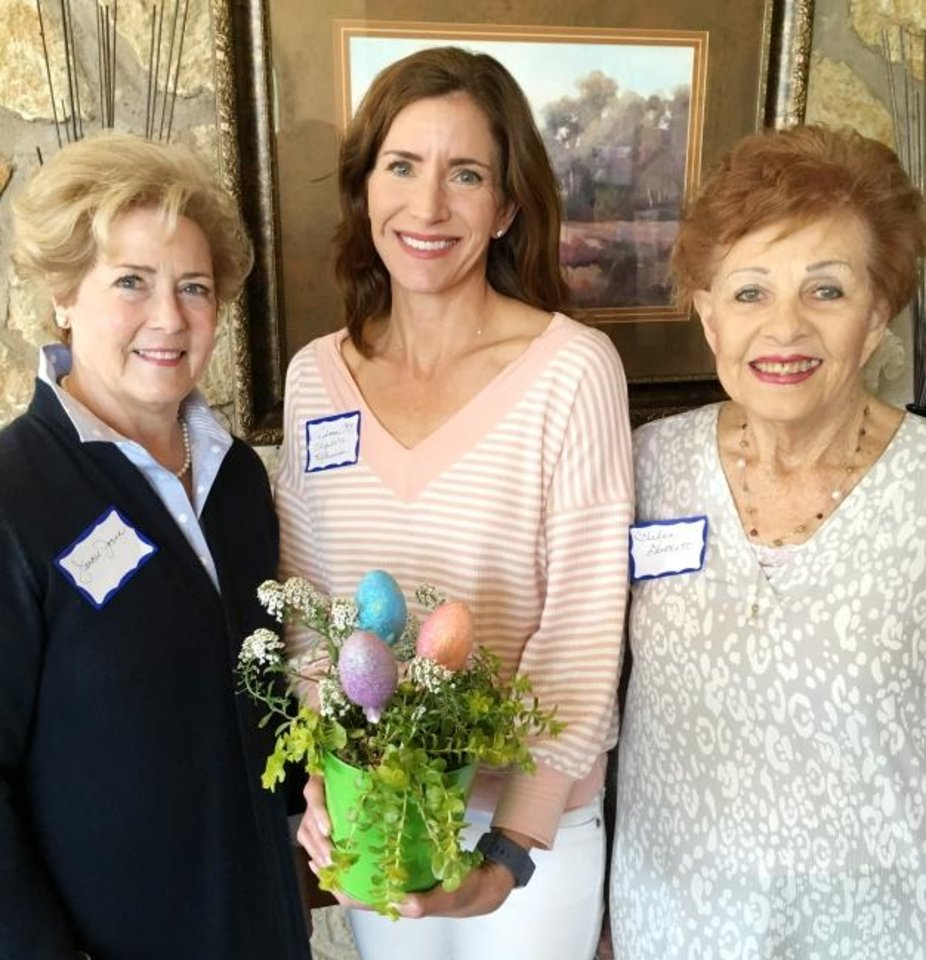 Photo -  Jackie Jones, Elizabeth Richardson and Helen Duckett at the Tri Delta Alumni Golden Circle Spring Luncheon at Quail Creek Golf & Country Club. [PHOTO PROVIDED]
