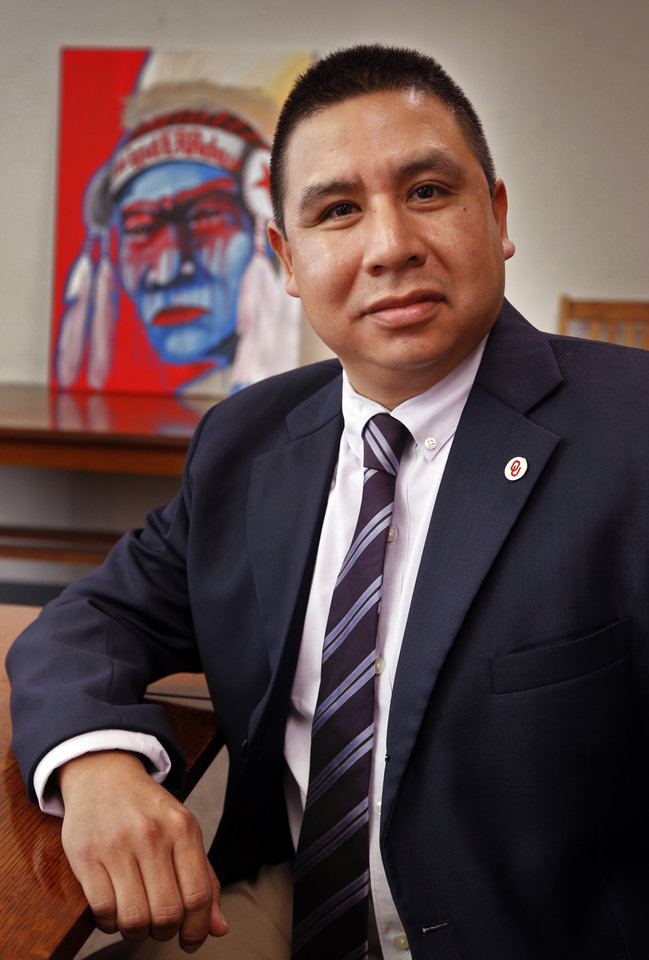 Photo -  Warren Queton is tribal liaison at the University of Oklahoma. [Photo by Steve Sisney, The Oklahoman]
