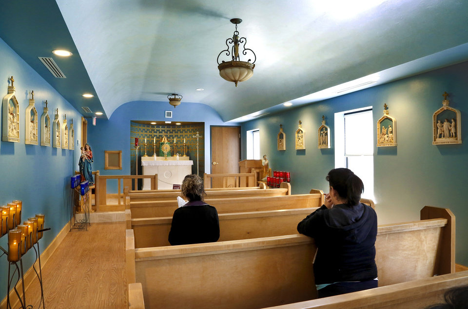 Photo - The Catholic Archdiocese of Oklahoma City opened Holy Innocents Chapel next door to an abortion clinic a year ago. It is the Holy Innocents Chapel and it will be on the front lines of the annual anti-abortion initiative,