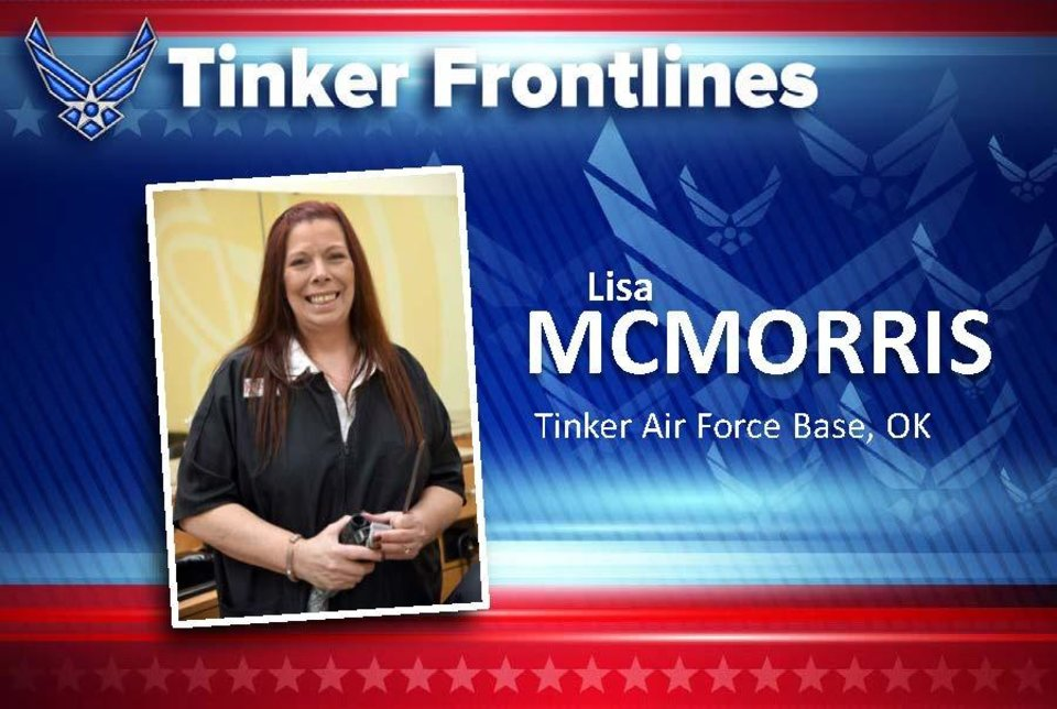 Photo - Lisa McMorris is the general manager for the three barber shops on base, including the Tinker Base Exchange, Bldg. 230's flightline shop and inside the Navy Shopette. McMorris, from Fort Dix, New Jersey, has served for 12 years at Tinker, six of those in the GM position. Her duties include providing haircuts for active duty personnel and retirees, while running the business as efficiently and safely as possible.