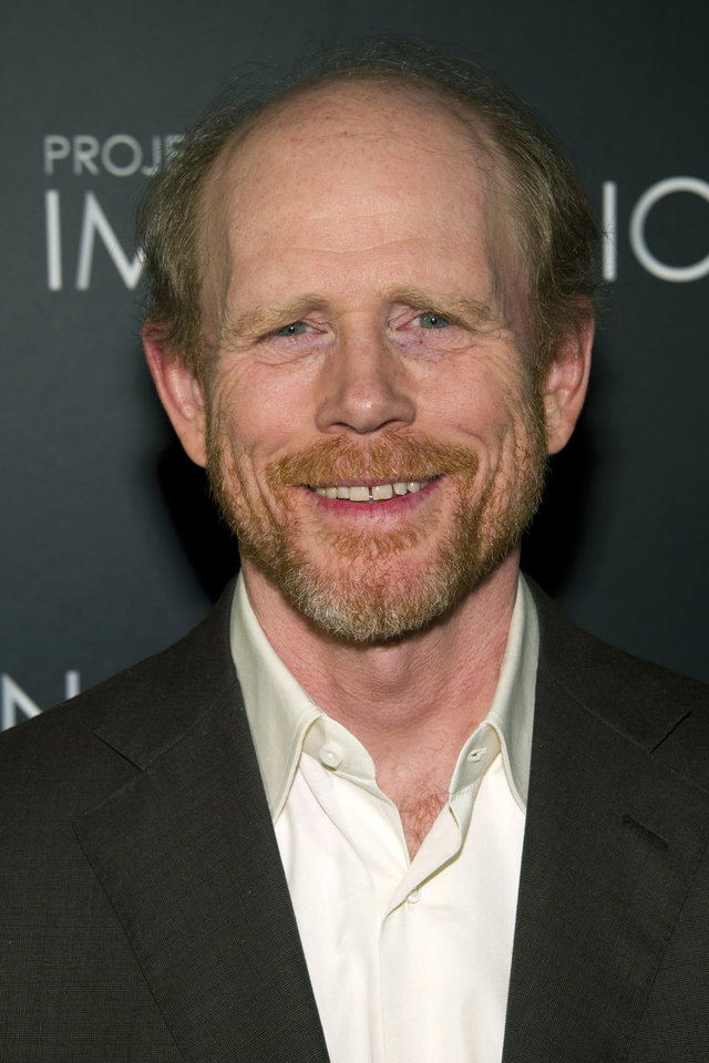 """Photo -  FILE - In this Nov. 15, 2011 file photo, Ron Howard attends the premiere of """"When You Find Me,"""" inspired by Canon's """"Project Imagination"""" contest, in New York. The Academy of Television Arts & Sciences Hall of Fame Committee  announced this yearís honorees for the 22nd Hall of Fame, including EmmyÆ-winning actor/director/producer Ron Howard, legendary sportscaster Al Michaels, iconic network executive Leslie Moonves, acclaimed journalist Bob Schieffer and prolific writer-producer Dick Wolf, as well as posthumously, Philo T. Farnsworth, credited with inventing all-electronic television transmission. The inductees will be honored during a gala ceremony at The Beverly Hilton Hotel on March 11, 2013, in Los Angeles. (AP Photo/Charles Sykes, File) ORG XMIT: CAPH100"""