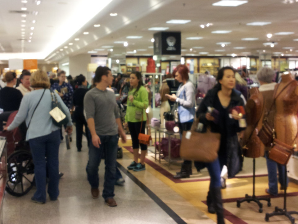 Near the handbag department at Dillard's, Penn Square, in Oklahoma City,