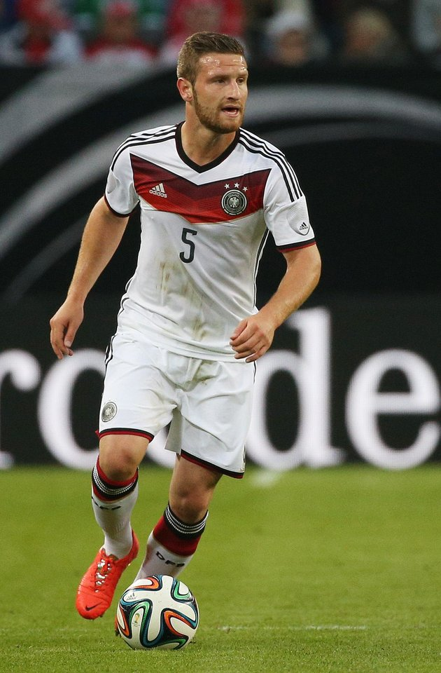 Photo - FILE-  In this  May 13, 2014 file picture Germany's  national soccer player Shkodran Mustafi  plays the ball  during the international friendly soccer match between  Germany and  Poland in Hamburg, Germany.   Germany attacking midfielder Marco Reus has been ruled out of the World Cup with an ankle injury sustained in Friday's 6-1 friendly win over Armenia. The German football federation says Saturday June 7, 2014 Reus suffered a partial ligament tear in his left ankle and will miss between six to seven weeks before he can resume training again. Sampdoria Genoa defender Shkodran Mustafi has been called up as a late replacement for the Borussia Dortmund player.  (AP Photo/dpa, Christian Charisius,file)