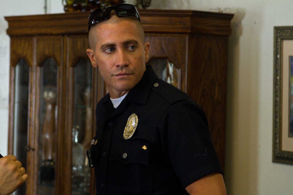 "Jake Gyllenhaal is shown in a scene from ""End of Watch."" OPEN ROADS FILMS PHOTO <strong>Scott Garfield</strong>"