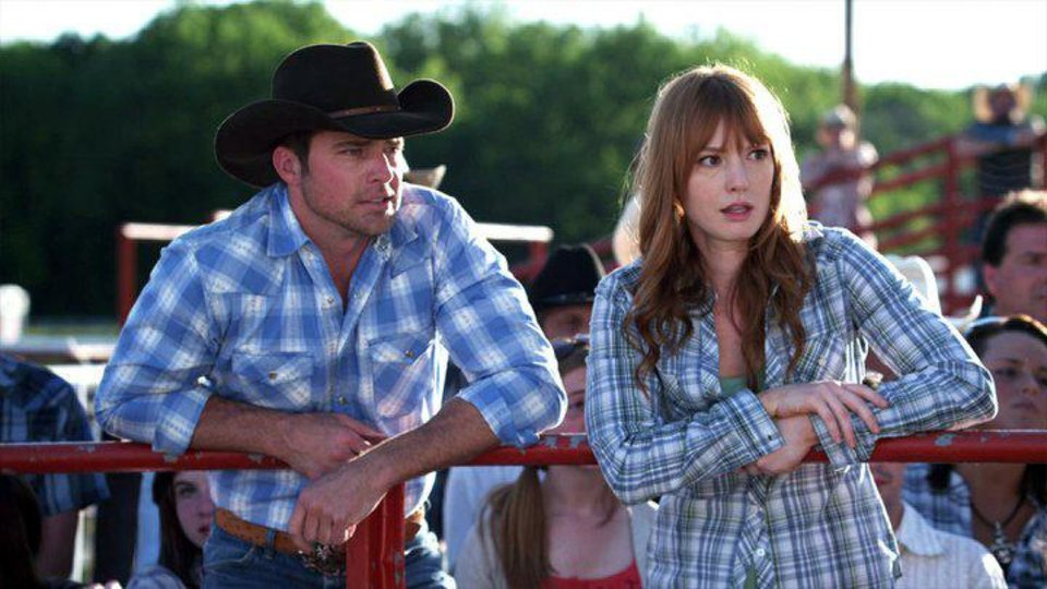 Photo - From left, Drew Waters and Alicia Witt appear in a scene from