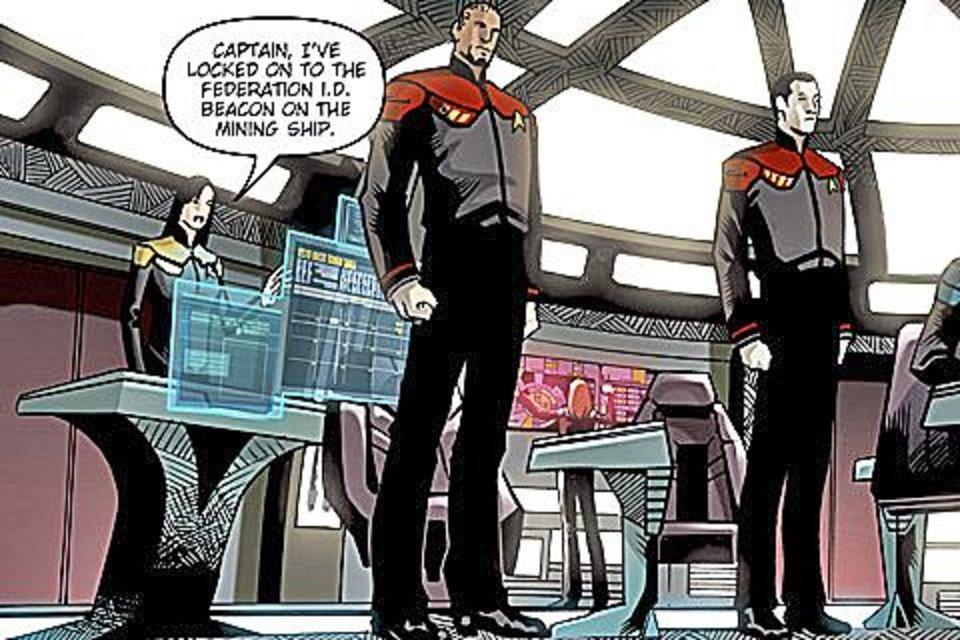 "Each issue of ""Star Trek: Countdown"" is available as an iPhone app. IDW PHOTO"