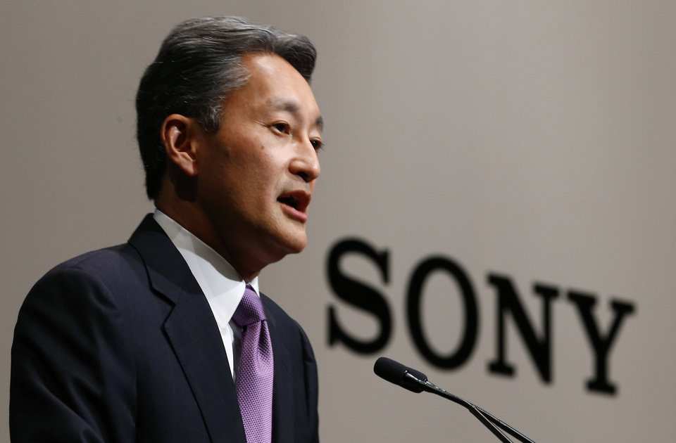 Photo - Sony Corp. President and Chief Executive Officer Kazuo Hirai speaks during a press conference at the Sony headquarters in Tokyo, Thursday, May 22, 2014. Hirai is acknowledging the company racked up losses and will stay in the red this fiscal year mainly because it failed to act quickly, but promised to carry out reforms - once and for all. (AP Photo/Shizuo Kambayashi)