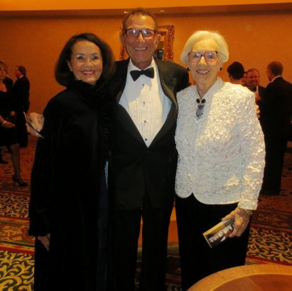 Terri Cooper, Jim Vallion and Joan Gilmore were at the 85th annual Oklahoma Hall of Fame Banquet and Induction Ceremony recently in Tulsa. (Photo by Helen Ford Wallace).