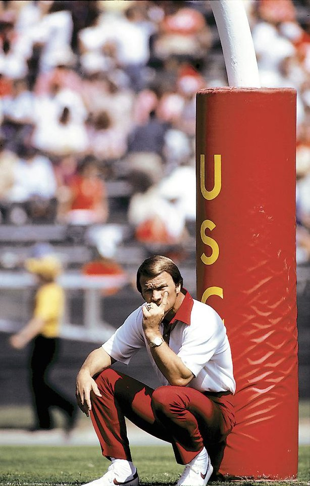 "<strong>Happy Birthday wish from Jay Jimerson, former OU quarterback: </strong><br> <i>""(Happy Birthday to) one of the all-time great motivators and a very personable man who give very generously of his time to others.""</i><br> <br />  <strong>1981: Switzer at USC</strong><br/>  Coming off four straight 10-plus win seasons, Switzer took his 1981 squad to Los Angeles to play USC. The Sooners fell, 28-24, and went on to a 7-4-1 season, the worst of Switzer's tenure at OU. PHOTO BY JOHN W. McDONOUGH, Icon SMI"