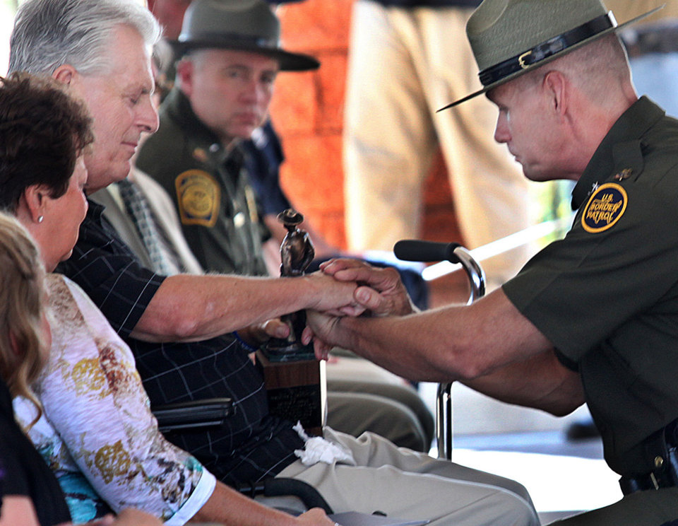 Photo -   Kent Terry Sr., father of Border Patrol Agent Brian Terry, and Richard