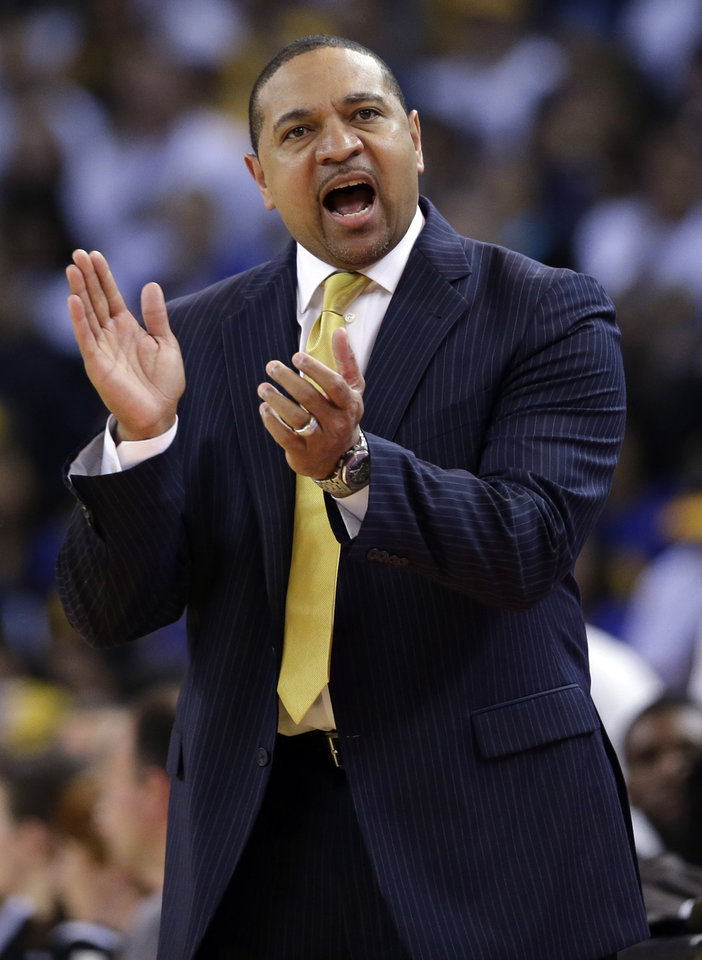 Mark Jackson has returned to the broadcast booth after coaching the Golden State Warriors for three seasons. AP File photo Marcio Jose Sanchez - AP