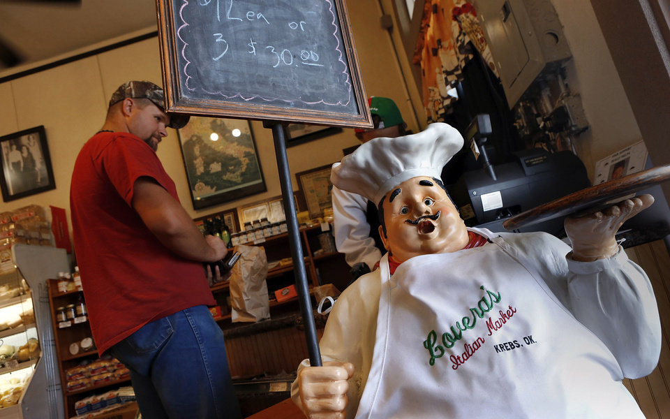 Photo - Lovera's Italian Market in Krebs, Oklahoma.  Jim Beckel - THE OKLAHOMAN