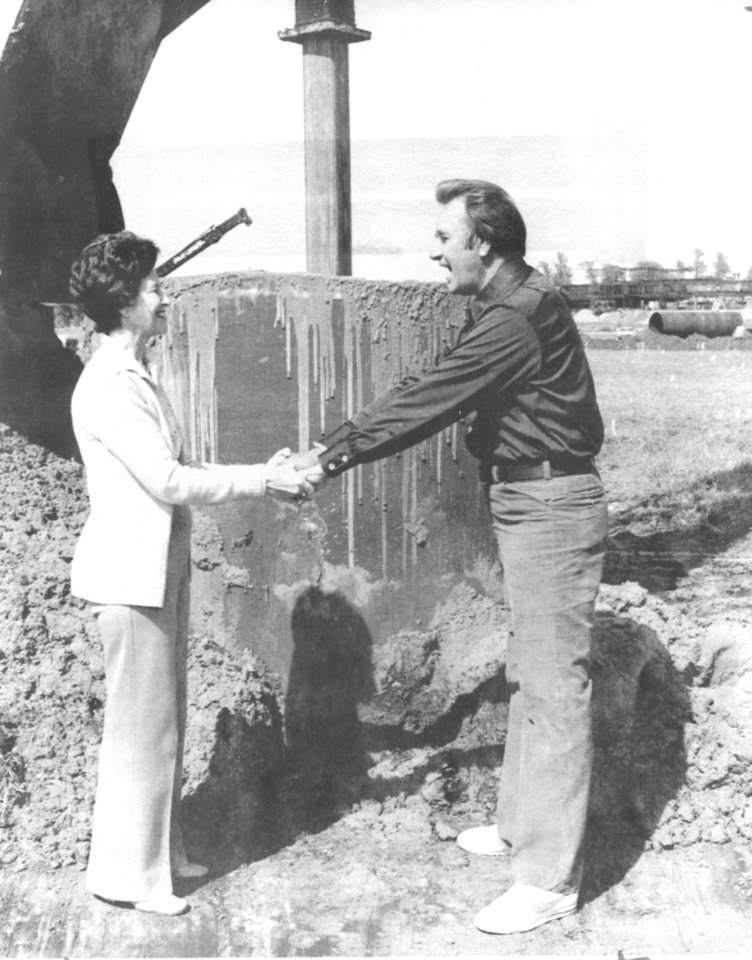 Photo - Undated file photo of Tulsa Evangelist Oral Roberts and wife Evelyn,  founder of the City of Faith in Tulsa. Original caption: