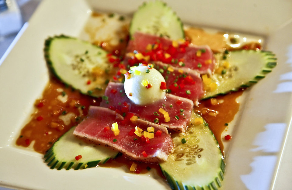 Ahi tuna at The Metro Wine Bar and Bistro dining room and bar  in Oklahoma City. Photo by Chris Landsberger, The Oklahoman <strong>CHRIS LANDSBERGER - CHRIS LANDSBERGER</strong>