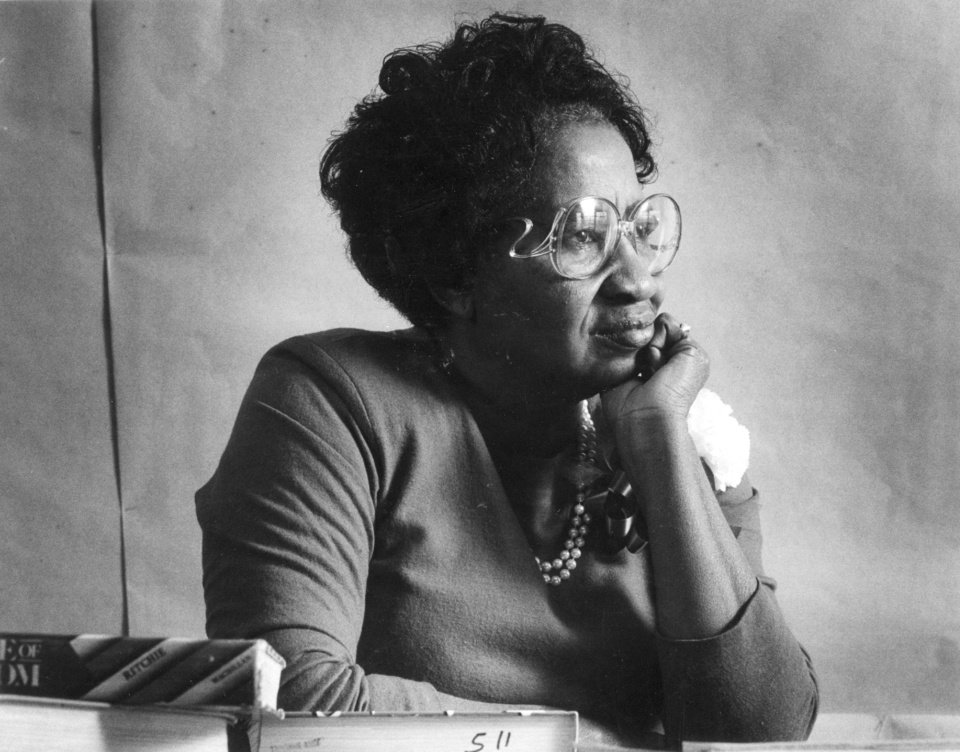 Photo -  Clara Luper, civil rights activist, in a photo from November 1988. [Oklahoman Archive Photo]