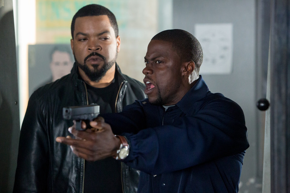 Photo - FILE - This image released by Universal Pictures shows Ice Cube, left, and Kevin Hart in a scene from