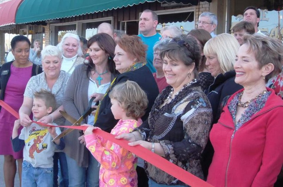 The Treasure Chest on Route 66 celebrated its grand opening last week with help from Bethany city officials. - PROVIDED
