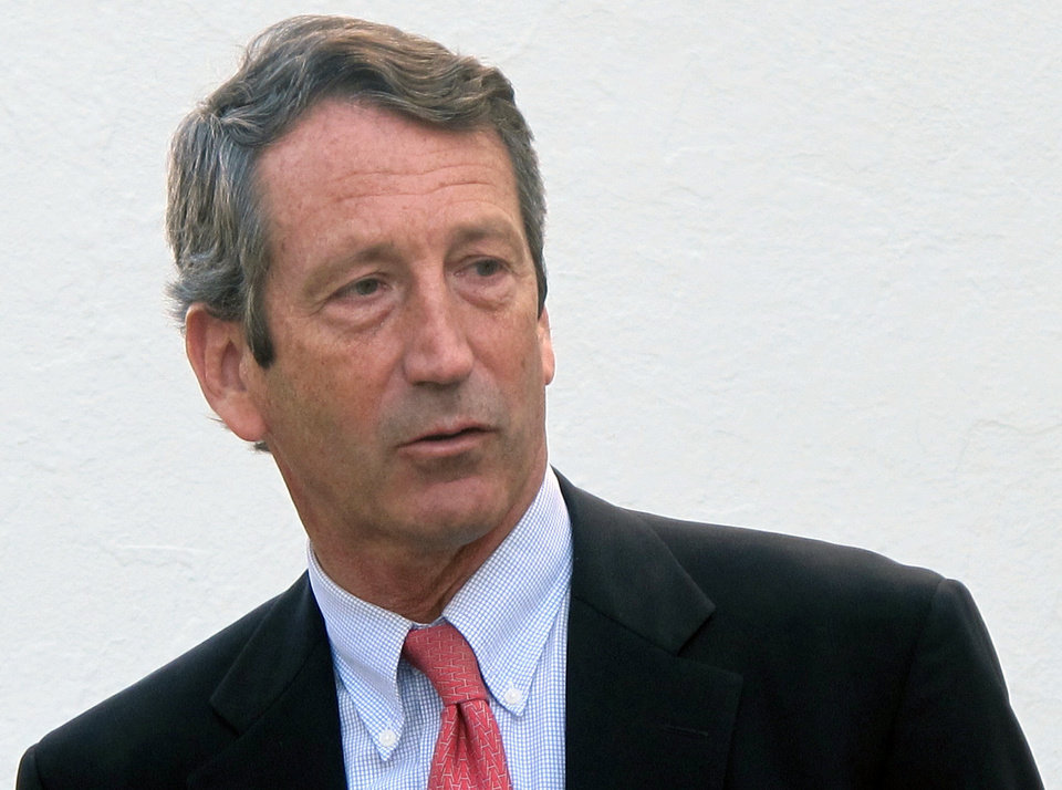 Photo - FILE - In this Jan. 19, 2012 file photo, former South Carolina Gov. Mark Sanford leaves The Citadel in Charleston, S.C. A lawyer says Sanford trespassed at his ex-wife's home and he has been ordered to appear in court two days after his special congressional election. Documents acquired by The Associated Press Tuesday, April 16, 2013 say Jenny Sanford confronted her ex-husband leaving her South Carolina home on Feb. 3. (AP Photo/Bruce Smith, File)