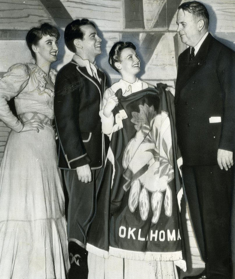 Photo -  In 1943 Governor Robert S. Kerr attended a showing of the original Broadway production of Rodgers & Hammerstein's