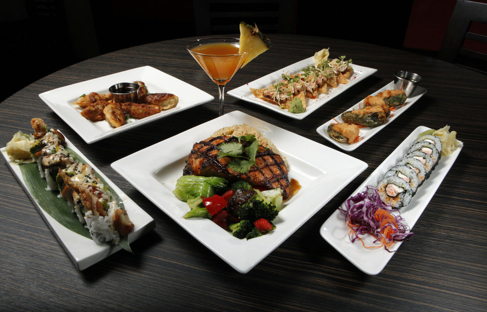180 Meridian Grill  in Norman features a variety of items with Asian flair. <strong>STEVE SISNEY - THE OKLAHOMAN</strong>