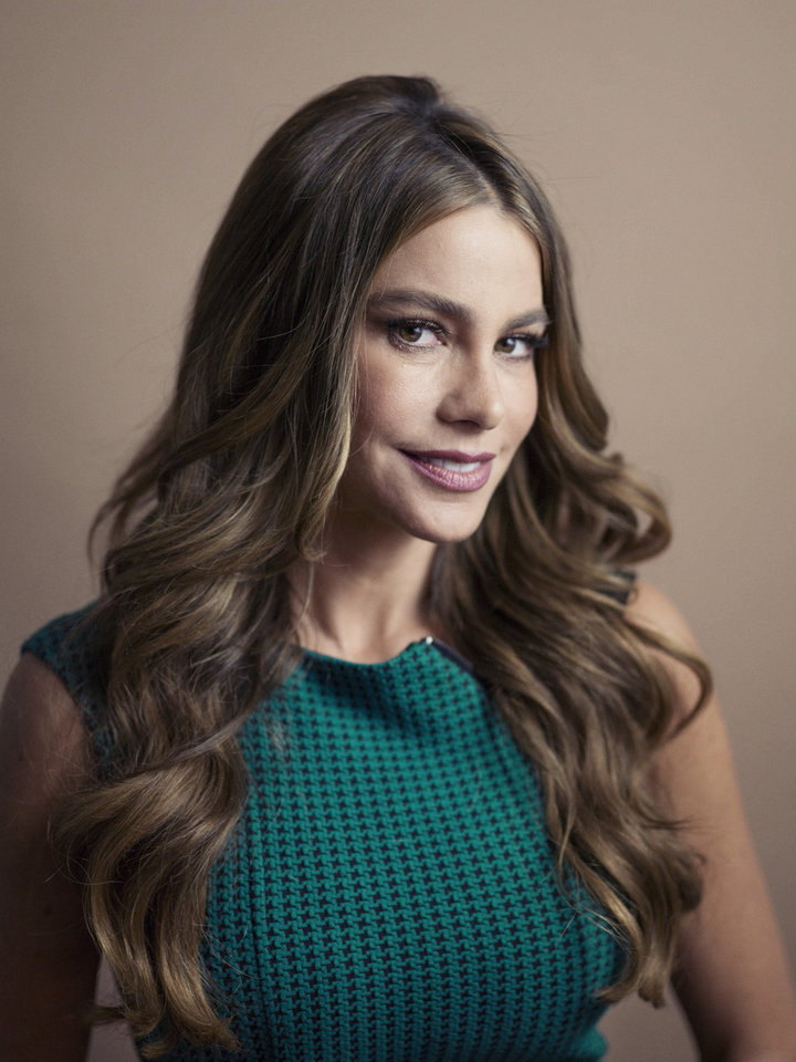 "Columbian actress Sofia Vergara poses for a portrait, on Wednesday, April 17, 2013 in New York. Vergara is currently on hiatus from ""Modern Family,"" but has several films coming out , including a starring role in the Robert Rodriguez thriller, ""Machete Kills."" (Photo by Victoria Will/Invision/AP)"