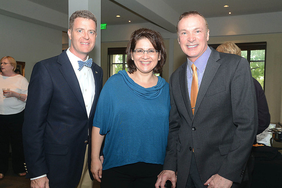 Craig Smith, Marsha Smith, Paul Sechrist. Photo by David Faytinger, for The Oklahoman