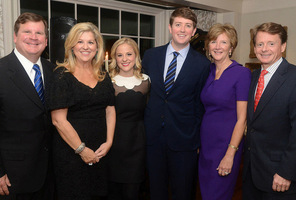 Photo - Ramsey, Susan, and Lindsey Drake; Sean, Kathleen, and Jamie Cowie. Photo by David Faytinger, for The Oklahoman