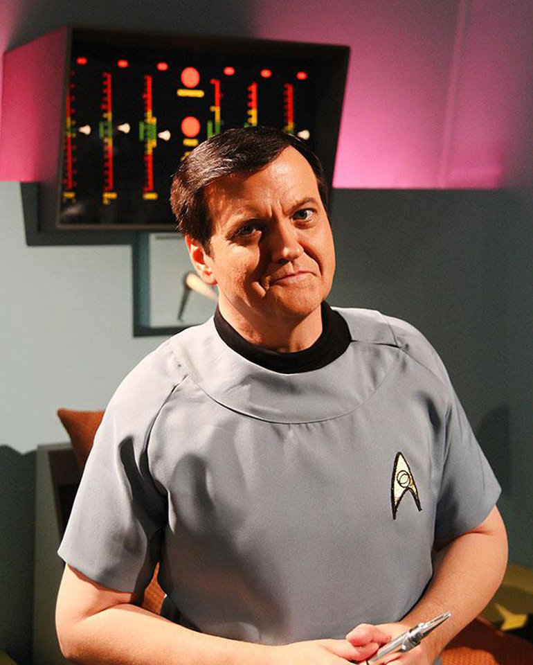 "Photo - Larry Nemecek appears as McCoy in ""Star Trek  Continues."""