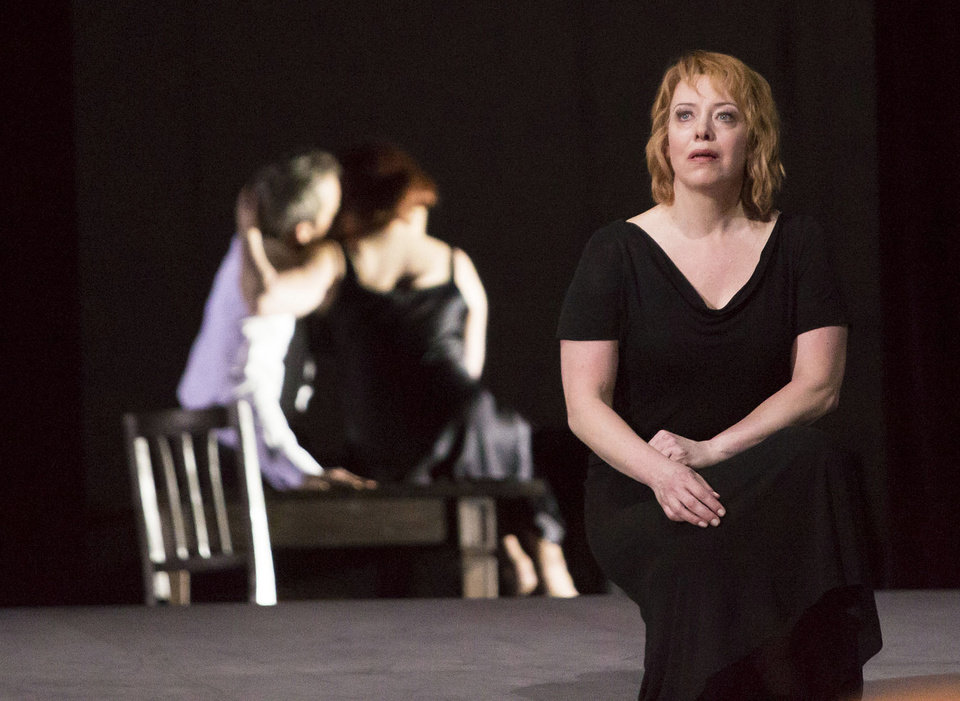 This photo provided by the Houston Grand Opera shows Nina Stemme performing as Isolde in Houston Grand Opera�s Tristan and Isolde. (AP Photo/Houston Grand Opera, Felix Sanchez)