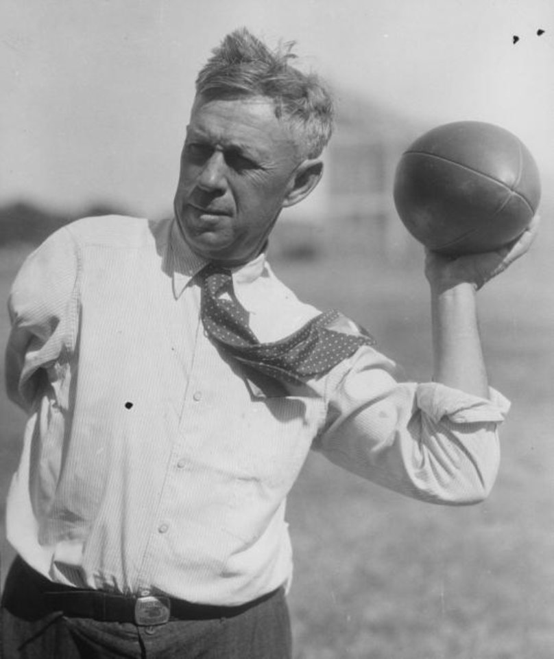 Photo -  Bennie Owen, who coached the Sooners from 1905-22, is credited with bringing the forward pass to the Southwest. [OKLAHOMAN ARCHIVES]