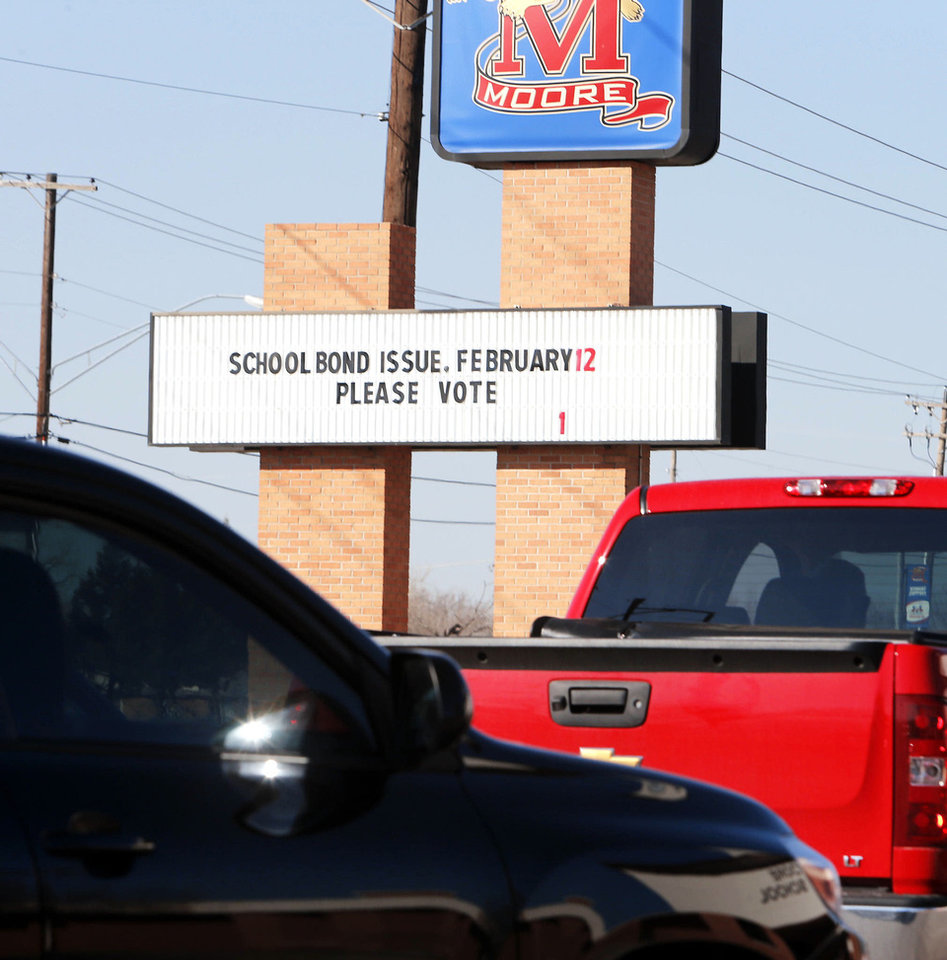 Photo - Voters in the Moore School District will go to the polls Tuesday to decide on a $126.46 million bond package.