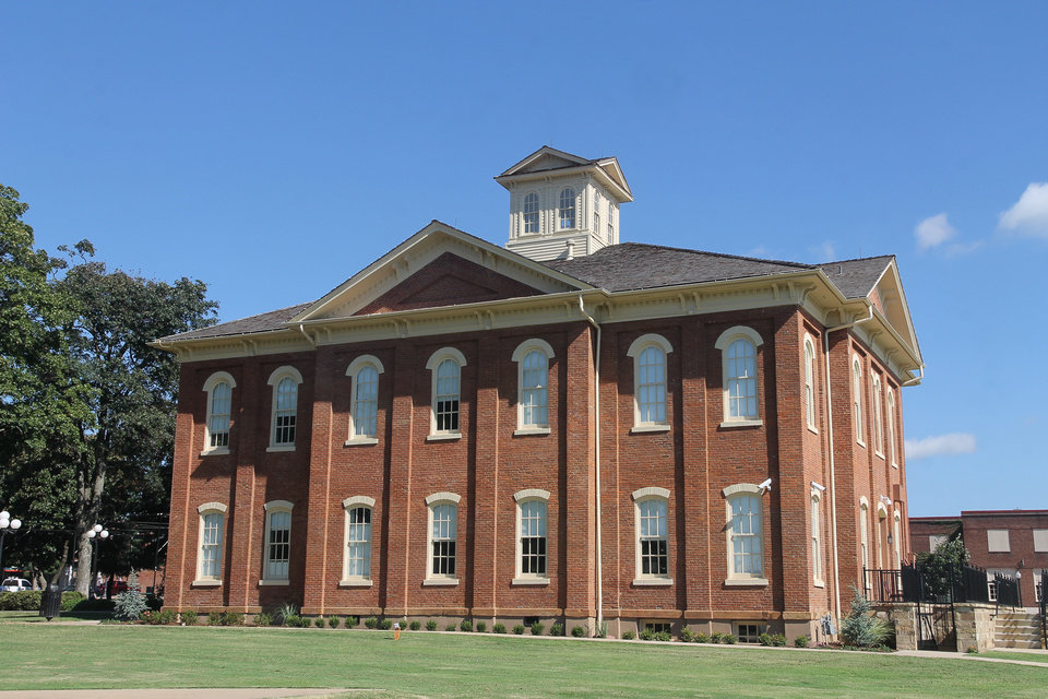Photo -  The Cherokee National Capitol in downtown Tahlequah is on the National Register of Historic Places. [PHOTO PROVIDED]