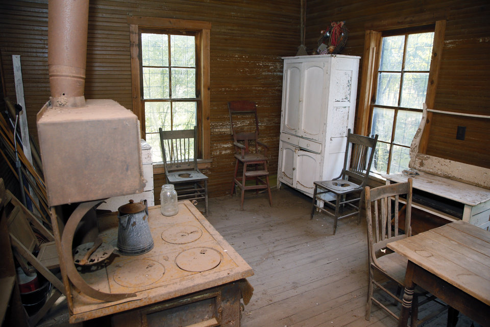 Photo -  The kitchen inside the Quanah Parker Star House in Cache. [Photo by Nate Billings, The Oklahoman]