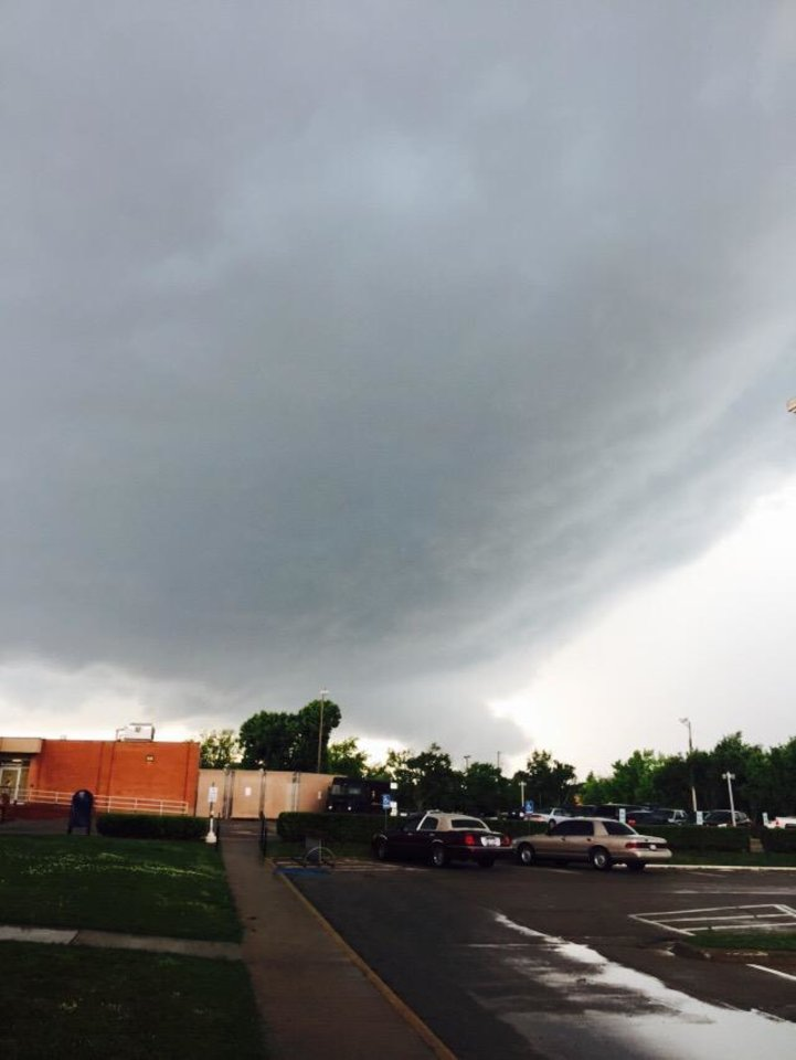 Photo - Chickasha, Oklahoma -- Photo via coachT @Jeaskalade on Twitter