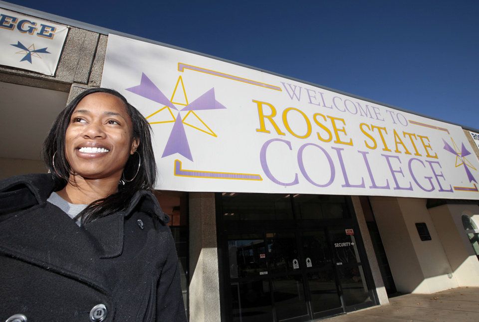 Photo - Ronnieka Potts, 27, of Oklahoma City, is completing her associate degree at Rose State College through the state's Reach Higher program. Photo by David McDaniel, The Oklahoman  David McDaniel - The Oklahoman